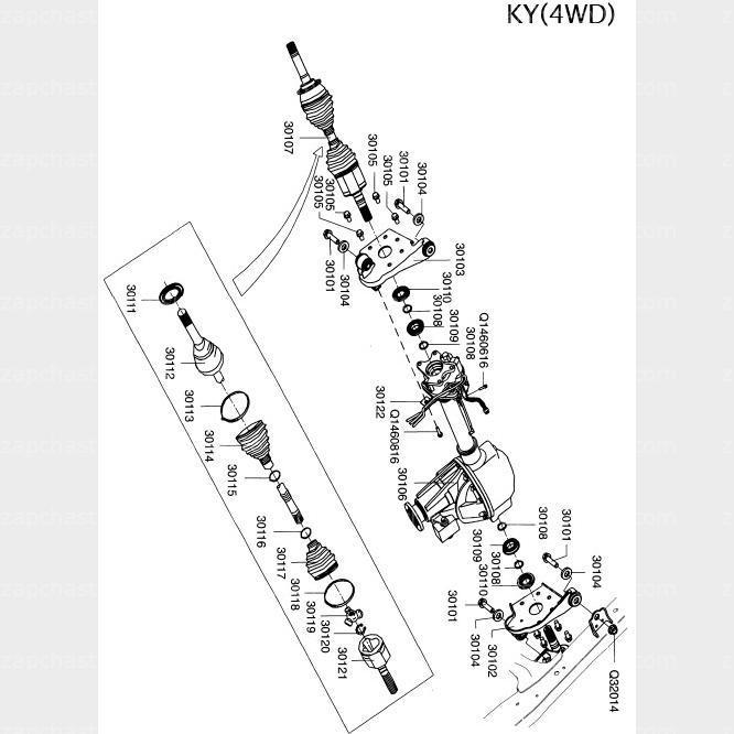 Пыльник ШРУСа наружный Great Wall Hover, Haval H3 Hover